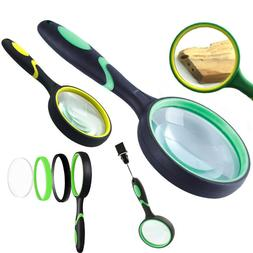 100mm Magnifying Handheld Magnifier for Jewelry Newspaper Bo