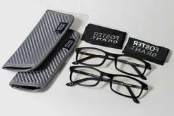 2 Pair Foster Grant e-Readers Reading Glasses, Reduces Blue