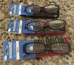 3 reading glasses eyeglass compact readers