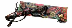 Calabria 4377 Reading Eye Glasses w/ Matching Case in 60 New