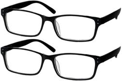 Black Computer Reading Glasses 0.00 Protect Your Eyes Agains