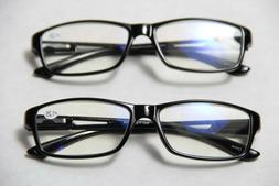 Black Computer Reading Glasses 1.25 _ Protect Your Eyes Agai