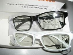 Computer Reading Glasses 0.00 Black White Protect Your Eyes