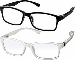 Computer Reading Glasses 2.00 Black White Protect Your Eyes