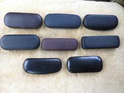 Lot of 8 Hard Eye Glass & Sunglass Cases Black and Brown.